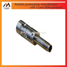 cnc turning oem thread machining service black anodized aluminum screw