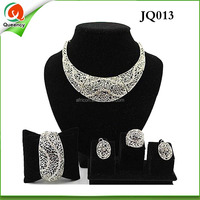Cheap Wholesale Fashion Jewelry,White Gold Plated Jewellery necklace set