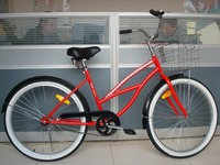 Customized 26 Inch Woman chopper bicycle Beach Cruiser Bike/ beach cruiser bicycle