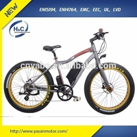 2015 China Factory new design Aluminium alloy no folding 48V 500W big tyre e bicycle 26'' For sale fat bike electric