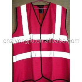 new style wholesales standardized knitted fabric safety vest with reflective tape and EN 20471 certificate