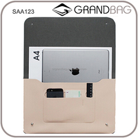 OEM hot sell genuine leather document organizer whosale, simple envelope clutch bag , fashion leather briefcase for ipad,