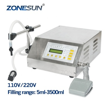 ZONESUN 5-3500ml perfume making machine micro-computer Digital control Perfume Filling Machine, electric pump filler supply