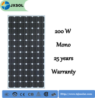 Solar system mono 200 watt solar panel for the street light