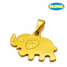 Creative jewelry guangdong animal gold thailand elephant pendant