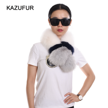 Factory wholesale price fox fur scarf for winter warm multi colors fur scarf