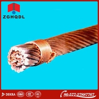 Overhead bare 10 - 185mm2 electrolytic stranded copper wire conductor