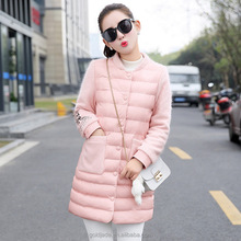 Top quality 2016 ultralight casual long duck down winter jacket women
