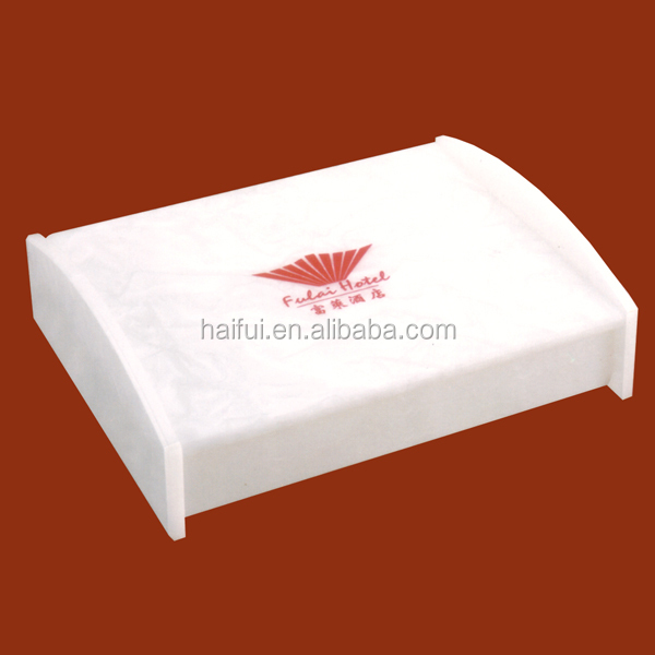 Fashionable acrylic hotel amenity trays, amenities tray