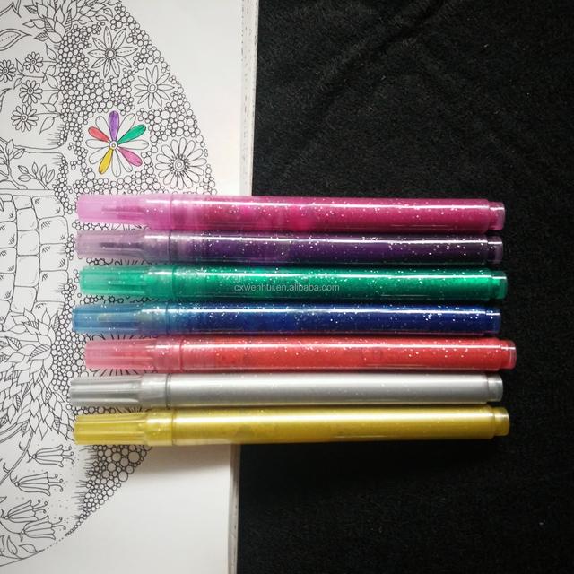 glitter highlighter marker pen