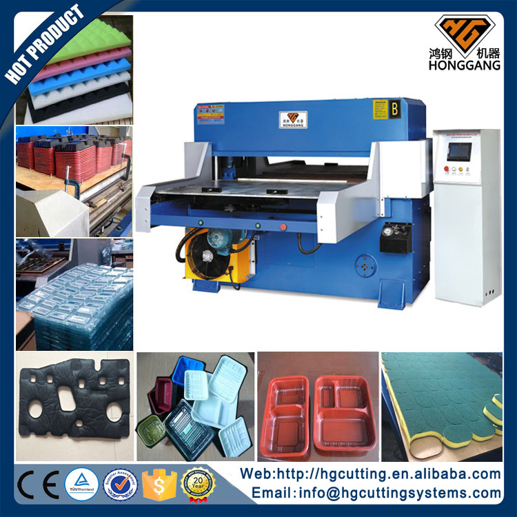 hydraulic automatic poron foam press cutting machine