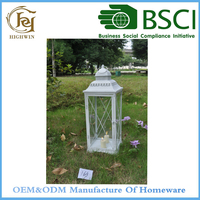 White Decorative Antique Box Candle Lanterns for inside and outside