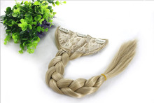 Europe and the United States son ponytail Imported high temperature wire fishbone twist braid