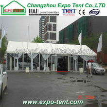 frame tent with glass door