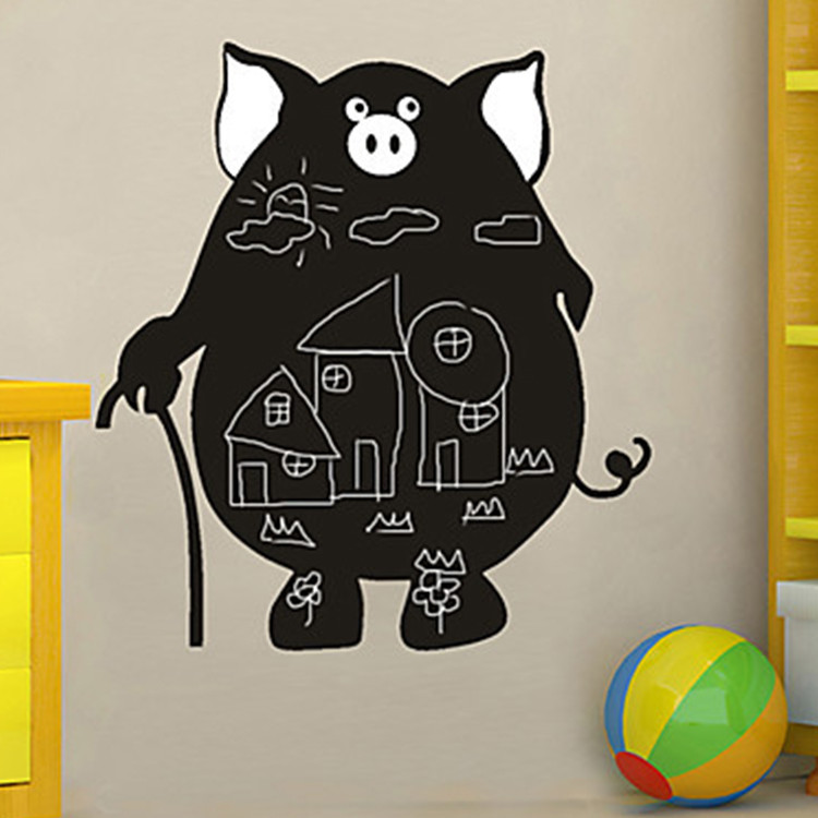 ALY-CBK355 Cartoon Animals Wall Stickers Erase Board