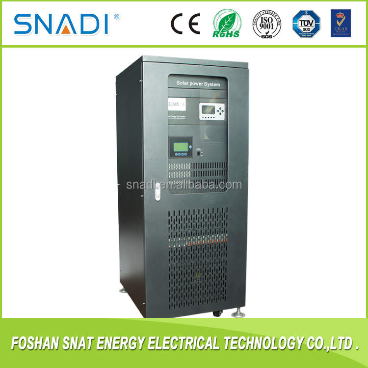Three phase solar inverter 30KW with built-in charge controller for home solar power system