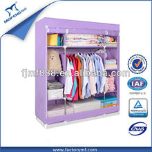 Wholesale Folding Large Non-Woven Clothes PVC Wardrobe