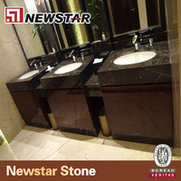 Newstar Natural Marble Top Modern Bathroom Cabinet Furture for Hotel Project