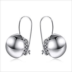 Hot Viennois Newest Fashion Jewelry Double Round Ball Silver Gold Zinc Alloy Trop Dangle Earrings for Women Party