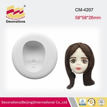 New arrival face mask silicone fondant mold for cake edge decorating soap clay chocolate mold
