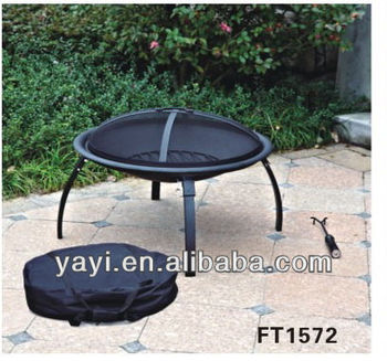 26 inch steel outdoor bbq folding fire pit