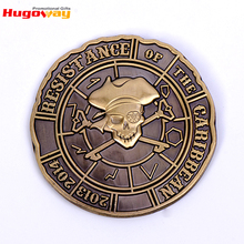 High quality cheap custom metal Antique Pirate style challenge souvenir coin