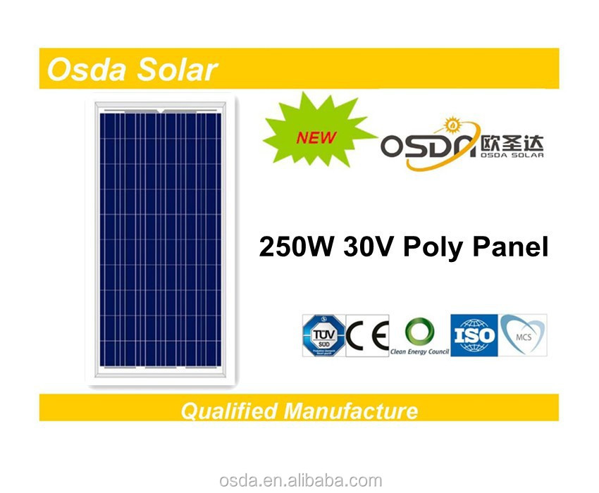 ODA250-30-P Osda 250W Poly solar panel price list