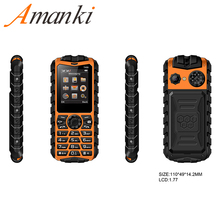 Amanki 1.77inch Rugged Mobile Phone FM Bluetooth Cheap Mobile Phone with Whatsapp