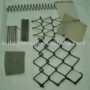 Stainless steel wire chain link fences fabric
