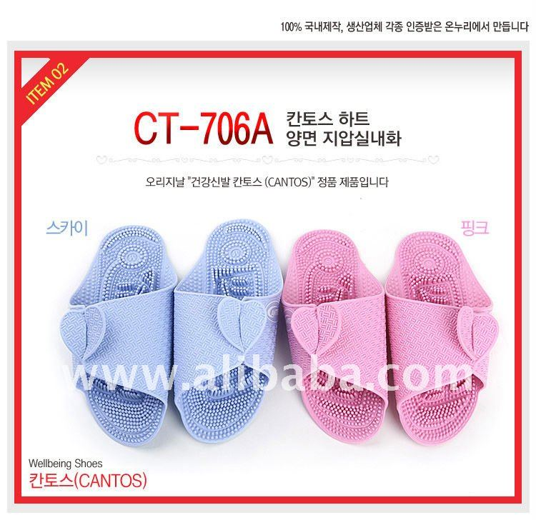 Two-way Room Slipper, Acupuncture & Acupressure slipper Marvel color Vacuum press EVA slipper Portable slipper