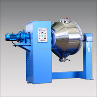 Three dimensional double cone chemical metallury powder blending mixing machine
