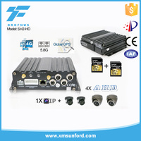 h.264 hardware compression mobile dvr with gps 3g sd card 4ch dvr