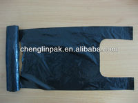 Strong recycled black pet Waste plastic garbage Bags on roll