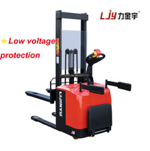 2 ton full electric powered pallet stacker with lifting height 3000mm mini forklift electric pallet stacker