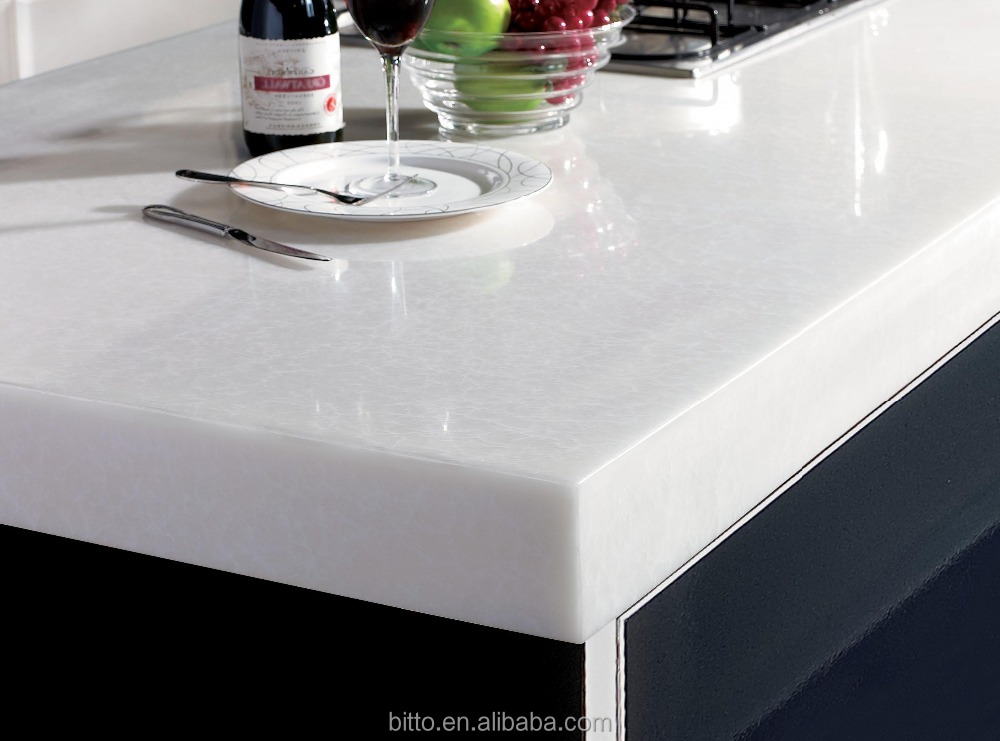 Polyester Resin Acrylic Solid Surface Sheets For Kitchen Countertops Buy Acrylic Sheet For