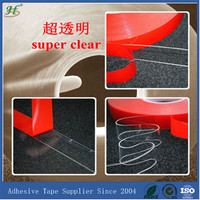 ISO9001&TS16949 Alibaba Express Free Samples Clear red liner VHB foam tape 1 thick