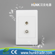 South Africa push button led light switch,satellite socket and TV socket