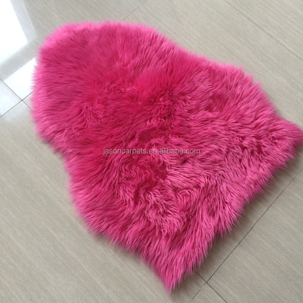 Cloud shape pink color kids faux fur rug buy pink faux for Fur rugs
