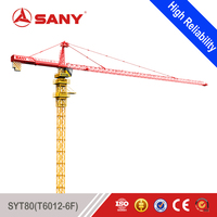 SANY SYT80 (T6012-6F) 6 Ton 60m Jib Length Tower Crane Good Price of Price of Tower Crane