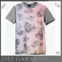 sublimation print t-shirts for couples gradual change color