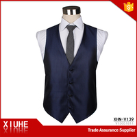 Zhejiang Men's Formal Business Balls Solid Navy Blue Vest