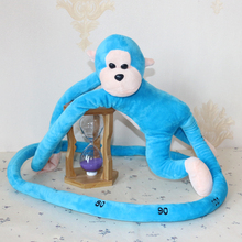 long arm blue monkey stuffed animal plush toy