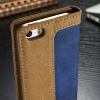 Wholesale Smart Phone Case for iPhone5, CaseMe for iPhone 5s Stand Case, PU Leather Case for iPhone 5