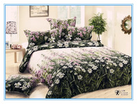 3d 4pcs Bright Colorful Bedding Set reactive printed flower desgn cover bed sheet