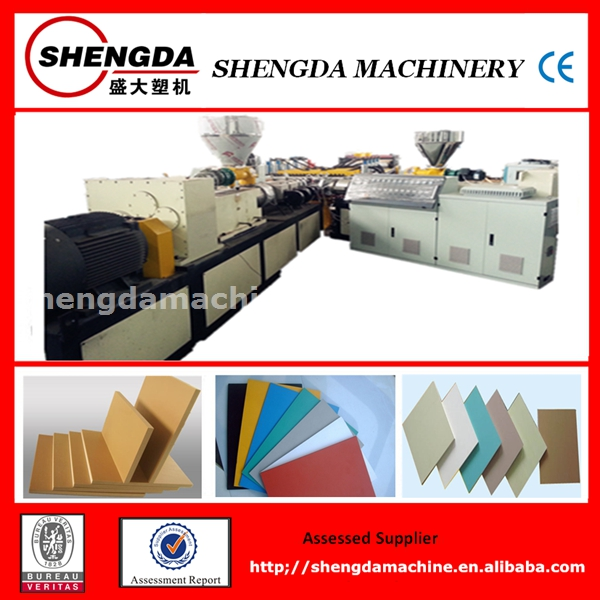 WPC bathroom cabinet board extrusion machinery