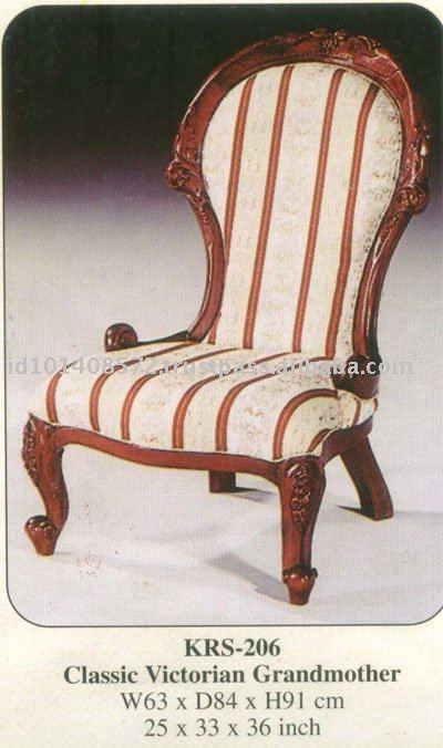 Classic Victorian Grandmother Mahogany Indoor Furniture