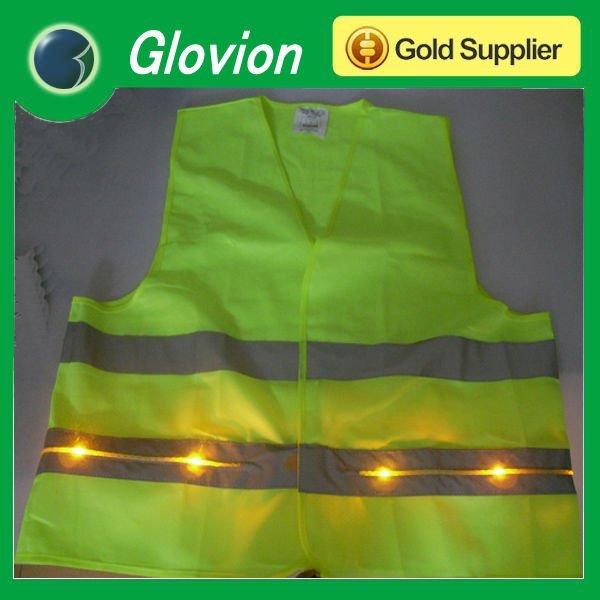 American style reflected led light safety vest clothes