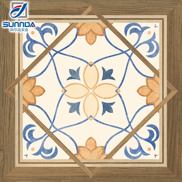 Sunnda 60x60 blue and white porcelain orient ceramic floor tile