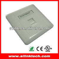 Systimax rj45 wall outlet faceplate