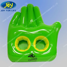 Green hand shaped inflatable ice bucket from china